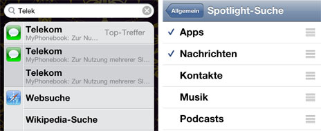 iOS Bug: Gelöschte SMS weiterhin in den Spotlight-Suchergebnissen