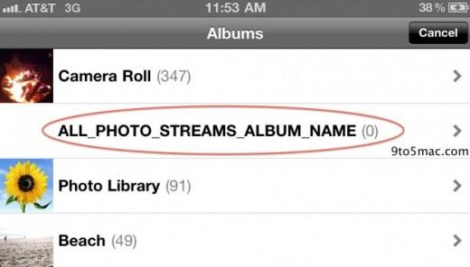 iOS 5: Photo Streams Integration in die Fotos App?