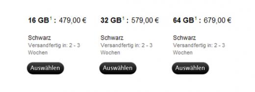 iPad 2 Lieferzeit weltweit auf 2-3 Wochen gesunken