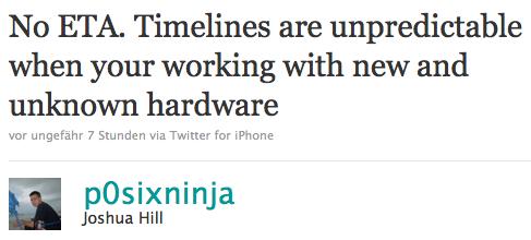 P0sixninja: iPad 2 Jailbreak könnte sich hinauszögern.