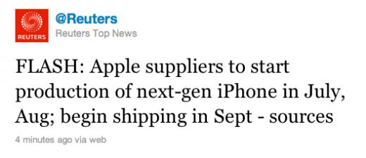 Reuters: iPhone 5 Verkaufsstart im September