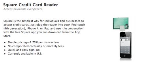 Square: Kreditkarten-Leser jetzt auch bei Apple erhältlich