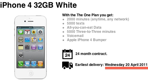 Weißes iPhone 4 ab 20. April erhältlich?