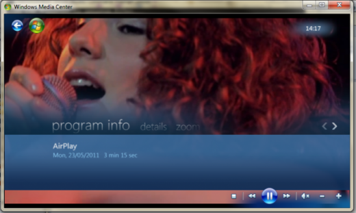 AirPlay für Windows Media Center