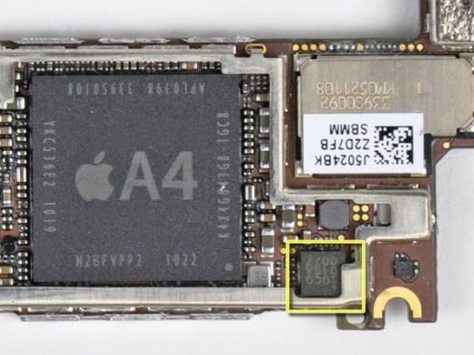 Der Chip zur Geräuschunterdrückung im iPhone 4