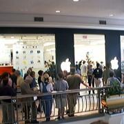 Apple Store in Tyson's Corner, Virginia bei der Eröffnung im Jahr 2001