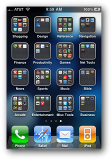App-Ordner in iOS 4