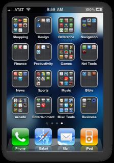 App-Ordner in iOS 4