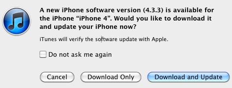 iOS 4.3.3 ist da!