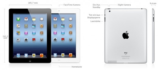 Apples Neues iPad (3. Gen.) - Features und Spezifikationen