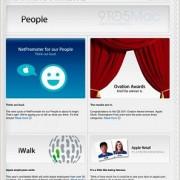 Screenshot der neuen iPad App für Store-Angestellte