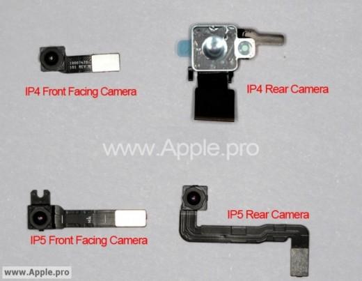 Kamera-Bauteile für iPhone 4 und 5
