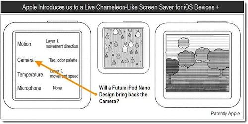 iPod Nano Patentabbildung mit Kamera-Referenz