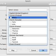 Lion Systemeinstellungen für die Sprachausgabe