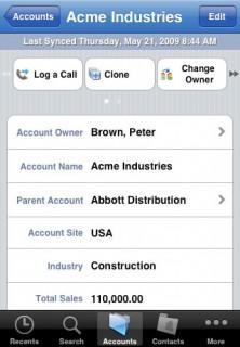 Salesforce Screenshot: Kundendaten schnell abrufen und ändern