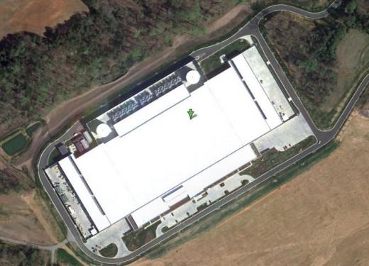 Apple's neues Rechenzentrum in North Carolina (Google Maps)