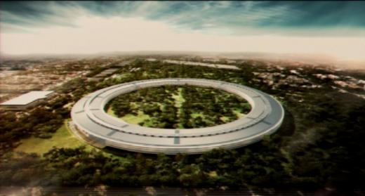 Screenshot: Diese Renderings präsentierte Steve Jobs dem Stadtrat von Cupertino.