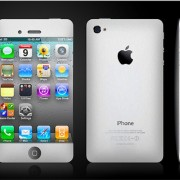 Mockup: Weißes iPhone 5 / iPHone 4S