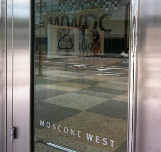 Das iCloud Icon - WWDC Vorbereitungen im Moscone Center