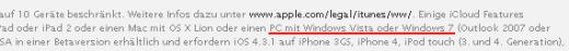 iCloud: Nicht für Windows XP