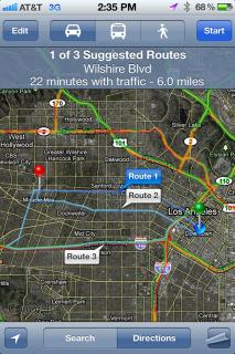 iOS 5: Anzeige von alternativen Routen in Google Maps