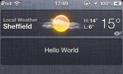 Endlich möglich: Eigene Widgets in iOS 5