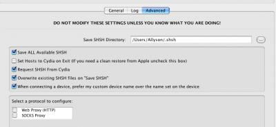"""4. Schritt: TinyUmbrella ausführen und auf """"Advanced"""" klicken"""