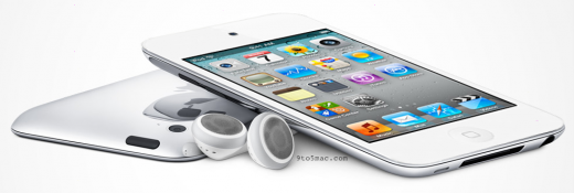 Mockup: iPod Touch 4G in Weiß