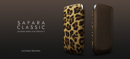 More-Thing Safara Classic Collection für iPhone 4, Leopard-Brown