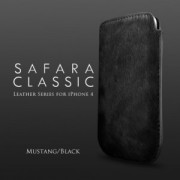 More-Thing Safara Classic Collection für iPhone 4, Mustang-Black