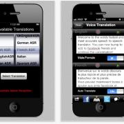 SpeechTrans Screenshots mit größerem iPhone Display - ein Hinweis auf das iPhone 5?