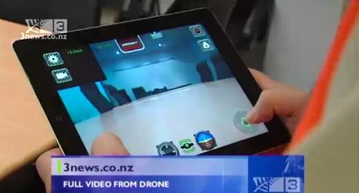 Screenshot: Gebäudeinspektion mittels AR.Drone in Neuseeland