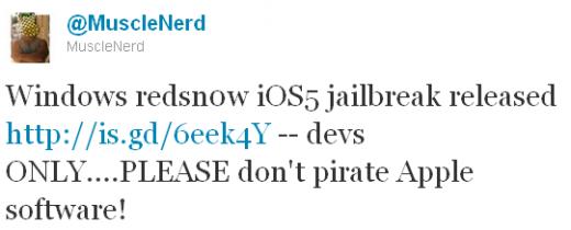 MuscleNerd: Redsn0w 0.9.8b1 jetzt auch für Windows