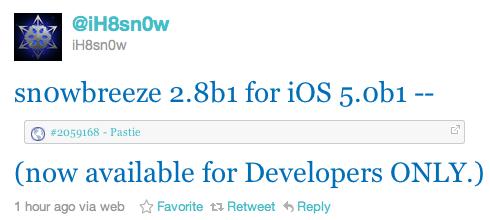 Sn0wbreeze 2.8b1 verfügbar!