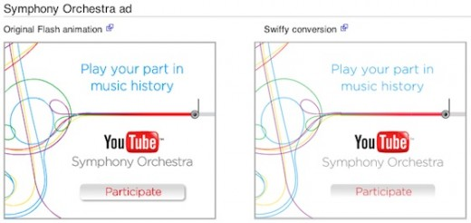 Vergleich: Swiffy Symphony Orchestra Conversion