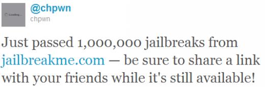 JailbreakMe.com übersteigt 1 Million Jailbreaks
