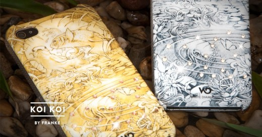 White Diamonds Koi Koi Chrome Case mit Swarovski Steinen für iPhone 4
