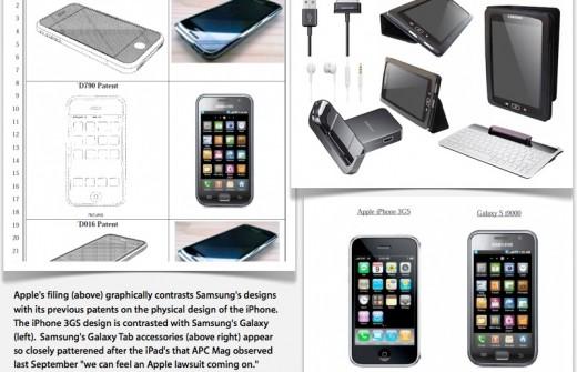 Apple vs. Samsung: Klage wegen Verletzung von Design-Patenten