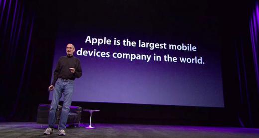 Steve Jobs: Apple ist der weltweit größte Hersteller von Mobilgeräten