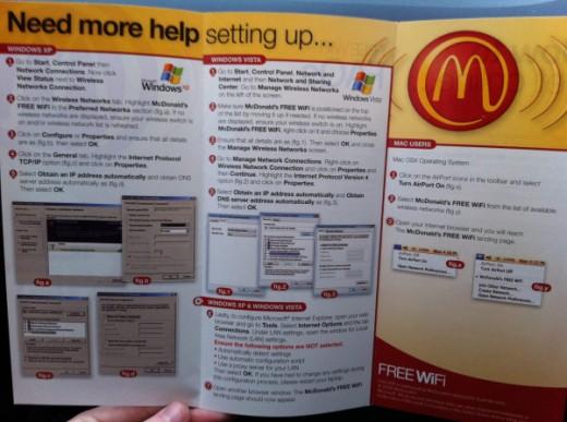 McDonalds WiFi Installations-Anleitung für Windows und Mac. Ohne Worte.