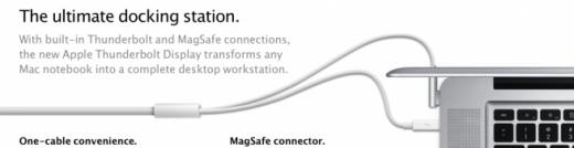 Thunderbolt Display: Alle Anschlüsse über ein Kabel