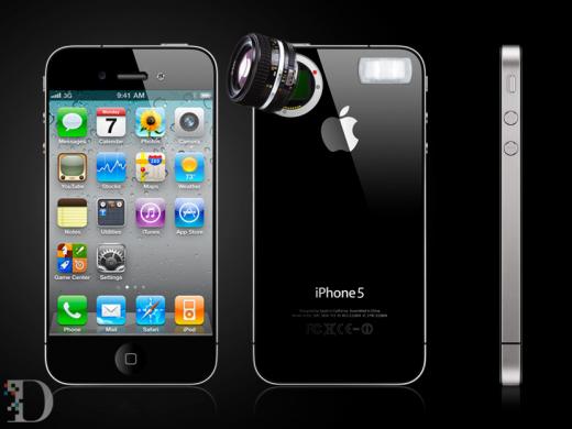 """iPhone5 Mockup """"Spiegelreflex"""" von AllThingsD"""