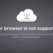 iCloud Fehlermeldung: Browser nicht unterstützt.