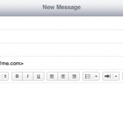 iCloud Web-Interface: Emails senden