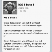 Apple veröffentlicht iOS 5 beta 5