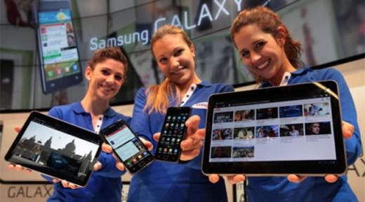 Samsung's neueste Smartphones und Tablets, inkl. dem Galaxy Tab 10.1