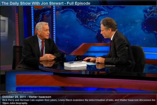 Walter Isaacson bei der Daily Show