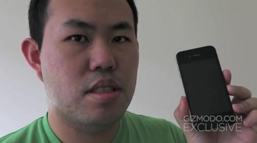 Jason Chen (Gizmodo) mit dem iPhone 4 Prototypen