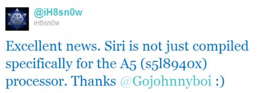 ih8sn0w: Siri bald auch auf dem iPhone 4 mit Jailbreak