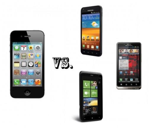 Features im Vergleich: iPhone 4S vs. Samsung Galaxy S II, Motorola Droid Bionic und HTC Titan